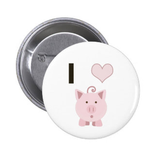 Cute I heart pigs Desgin 6 Cm Round Badge