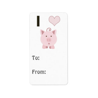 Cute I heart pigs Desgin Address Label