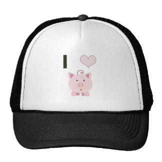 Cute I heart pigs Desgin Cap