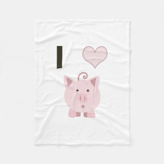 Cute I heart pigs Desgin Fleece Blanket