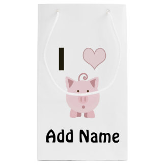 Cute I heart pigs Desgin Small Gift Bag