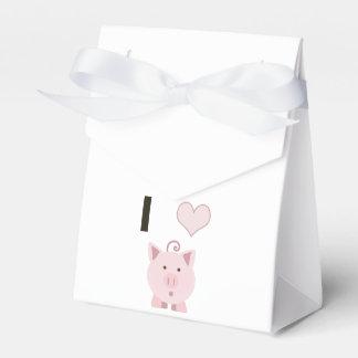 Cute I heart pigs Desgin Wedding Favour Boxes