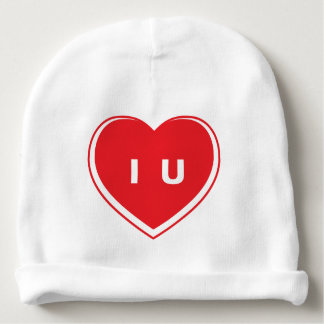 "Cute ""I Heart U"" Rabbit Skin Cotton Rib Infant Hat Baby Beanie"