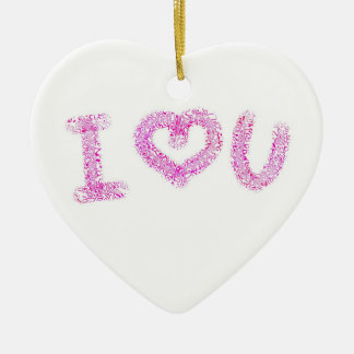 Cute I Heart You  Valentine Heart Ornament