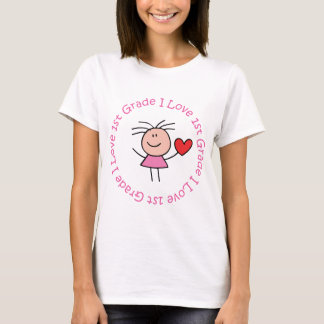 Cute I Love First Grade T-Shirt