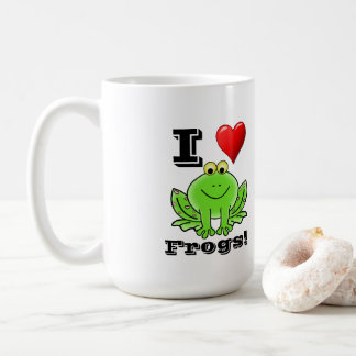 Cute I Love Frogs Mug