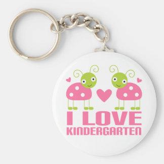 Cute I Love Kindergarten Ladybug Gift Keychain