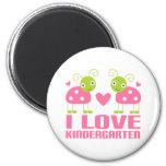 Cute I Love Kindergarten Ladybug Gift Fridge Magnets