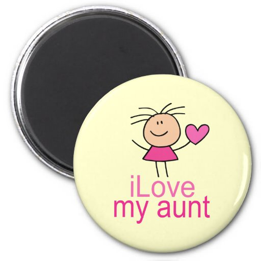 Cute I Love my Aunt Fridge Magnet Gift
