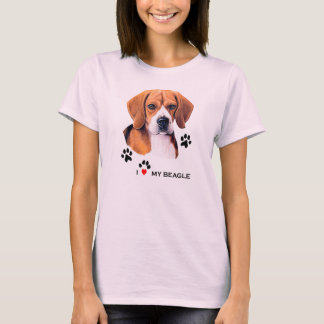 Cute I love My Beagle T-shirts