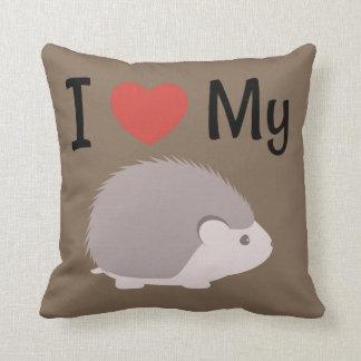 Cute I Love My Hedgehog Cushion