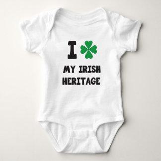 Cute I love My Irish Heritage Print Baby Bodysuit
