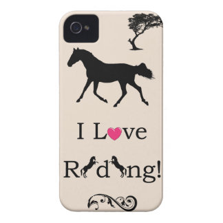 Cute I Love Riding! Equestrian iPhone 4/4S Case