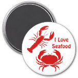 Cute I love seafood Refrigerator Magnet