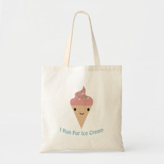 Cute I run for ice cream Tote Bag