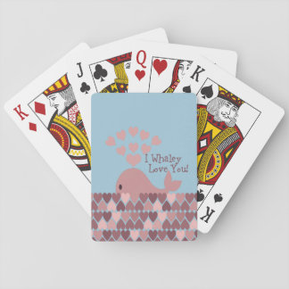 Cute I whaley Love You! design Playing Cards