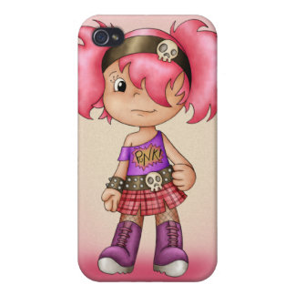 Cute i With Little Punk Girl - Teenage Case For iPhone 4
