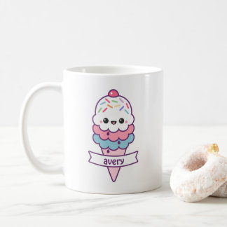 Cute Ice Cream Cone Coffee Mug