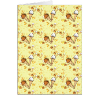 Cute Ice Cream Cones Pattern Blank Greeting Card