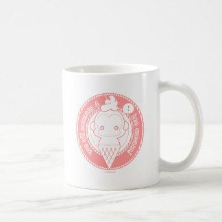 Cute Ice Cream Monkey Basic White Mug