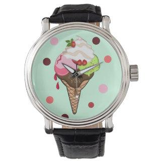 Cute Ice Cream & Polka Dots watch