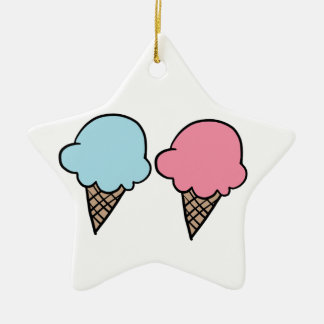 Cute Ice Cream shirts, accessories, gifts Ceramic Ornament