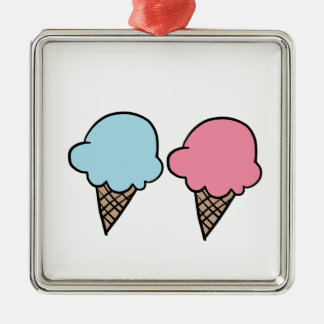Cute Ice Cream shirts, accessories, gifts Metal Ornament