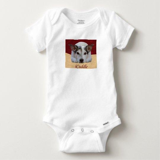 Cute iCuddle Jack Russel Dog Baby Onesie