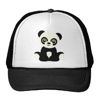 Cute illustrated panda cap