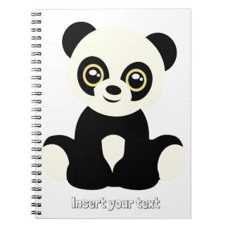 Cute illustrated panda notebooks