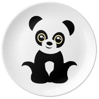 Cute illustrated panda plate