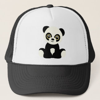 Cute illustrated panda trucker hat