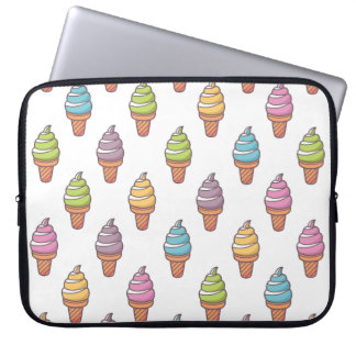 Cute Illustrated Pattern Laptop Sleeve