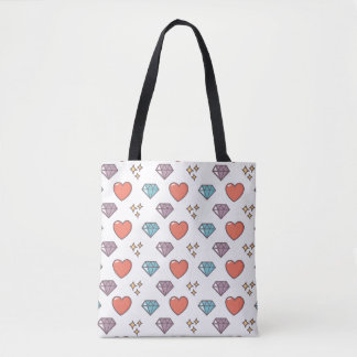 Cute Illustrated Pattern Tote Bag