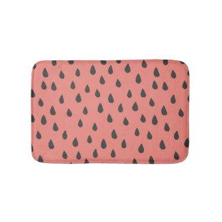 Cute Illustrated Summer Watermelon Seeds Pattern Bath Mats