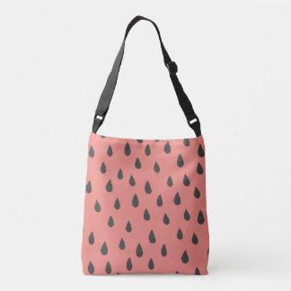 Cute Illustrated Summer Watermelon Seeds Pattern Crossbody Bag