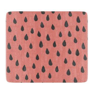Cute Illustrated Summer Watermelon Seeds Pattern Cutting Board