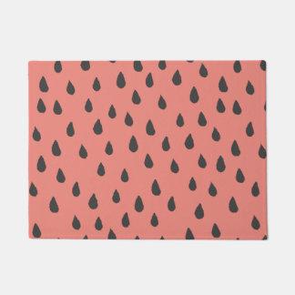 Cute Illustrated Summer Watermelon Seeds Pattern Doormat