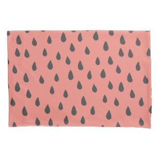 Cute Illustrated Summer Watermelon Seeds Pattern Pillowcase