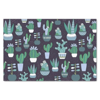 Cute illustration of cactus pattern tissue paper