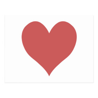 Cute Indian Red Heart Postcard