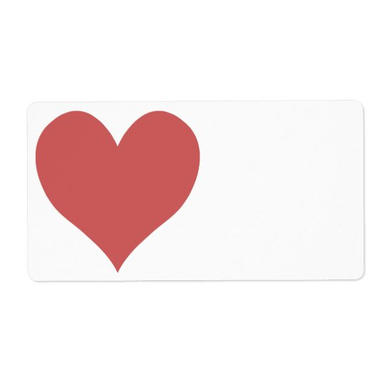 Cute Indian Red Heart Shipping Label