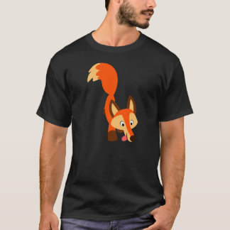 Cute Inquisitive Cartoon Fox T-Shirt