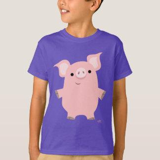 Cute Inquisitive Cartoon Pig Children T-shirt