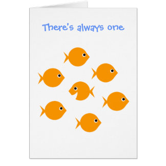"Cute Inspirational ""Always One"" Cartoon Greeting Card"