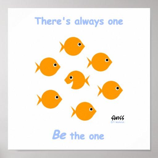 "Cute Inspirational ""Always One"" Cartoon Poster"