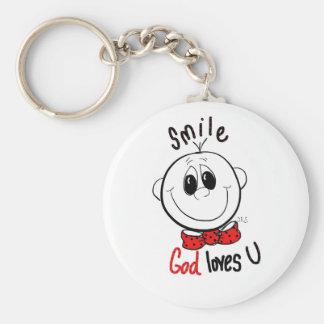 Cute inspirational pin key ring