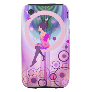 Cute iPhone 3G/3GS Case-Mate Tough with Girl iPhone 3 Tough Covers