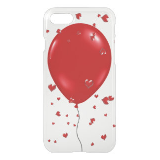 Cute iPhone 7 Case-Red balloon and hearts iPhone 7 Case