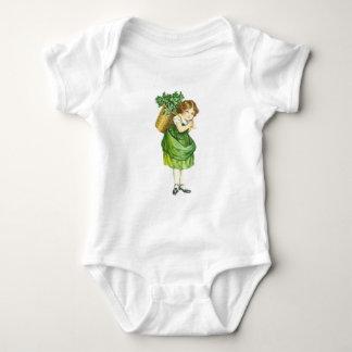 Cute Irish Shamrock Girl Baby Bodysuit